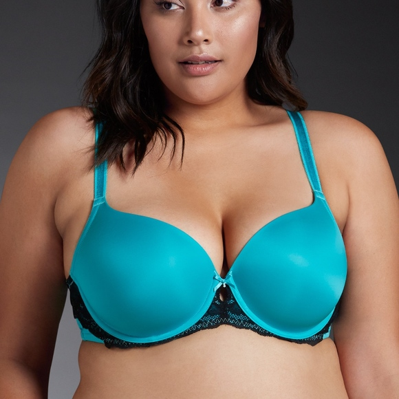 ab24e3ff4f6 Torrid Green Lace Push-Up Bra Plus Size 46D